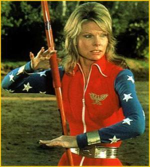 Cathy Lee Crosby Wonder Woman costume