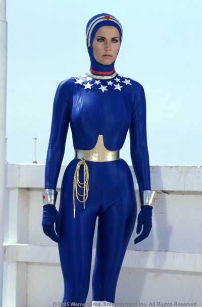Or Lynda Carter in the Wonder Woman Motorcycle Outfit?