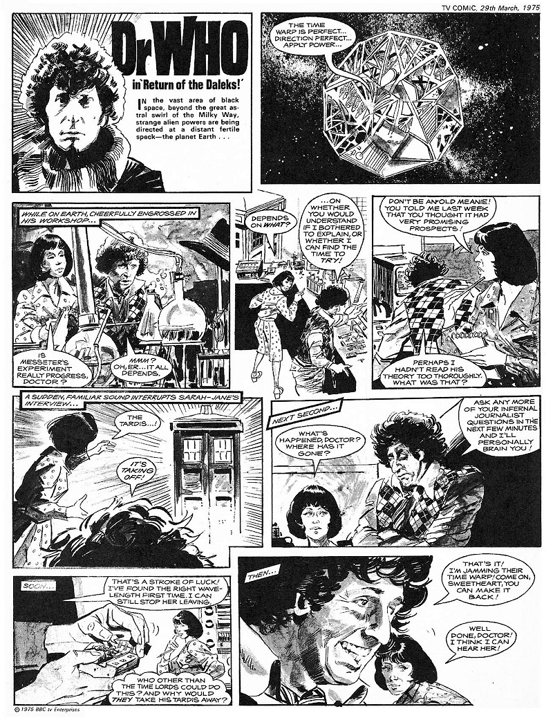 The saturday comics doctor who mr blog s tepid ride
