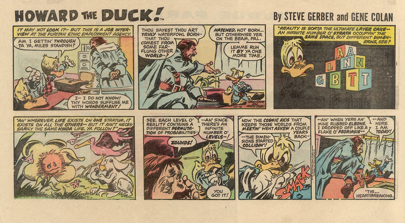 Howard the duck comic strip