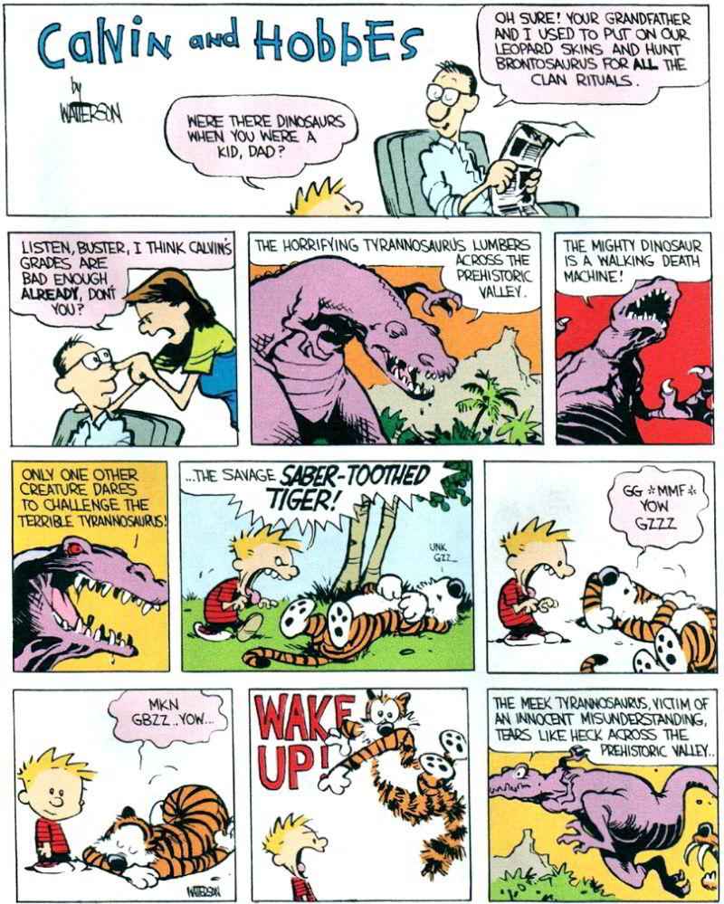 Calvin comic hobbes kittel strip