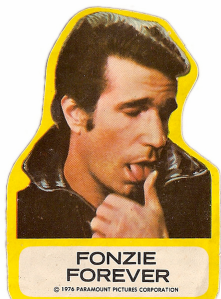 Mr. Blog says: There were better pictures Allan Keyes could have used, but none as funny. Why the heck is The Fonz making love to his thumb?