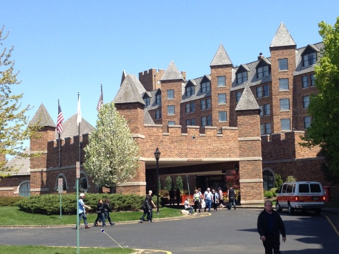 A castle. Can you think of a better place to hold a horror convention than a hotel that looks like a castle?