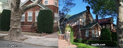 The house today. I took the shot on the right.
