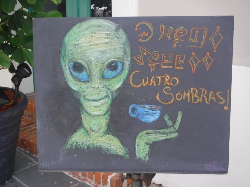 the alien cafe